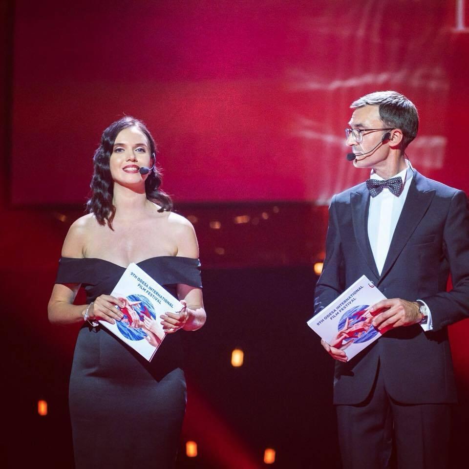 Янина Соколова и Олег Панюта будут ведущими Одесского кинофестиваля.