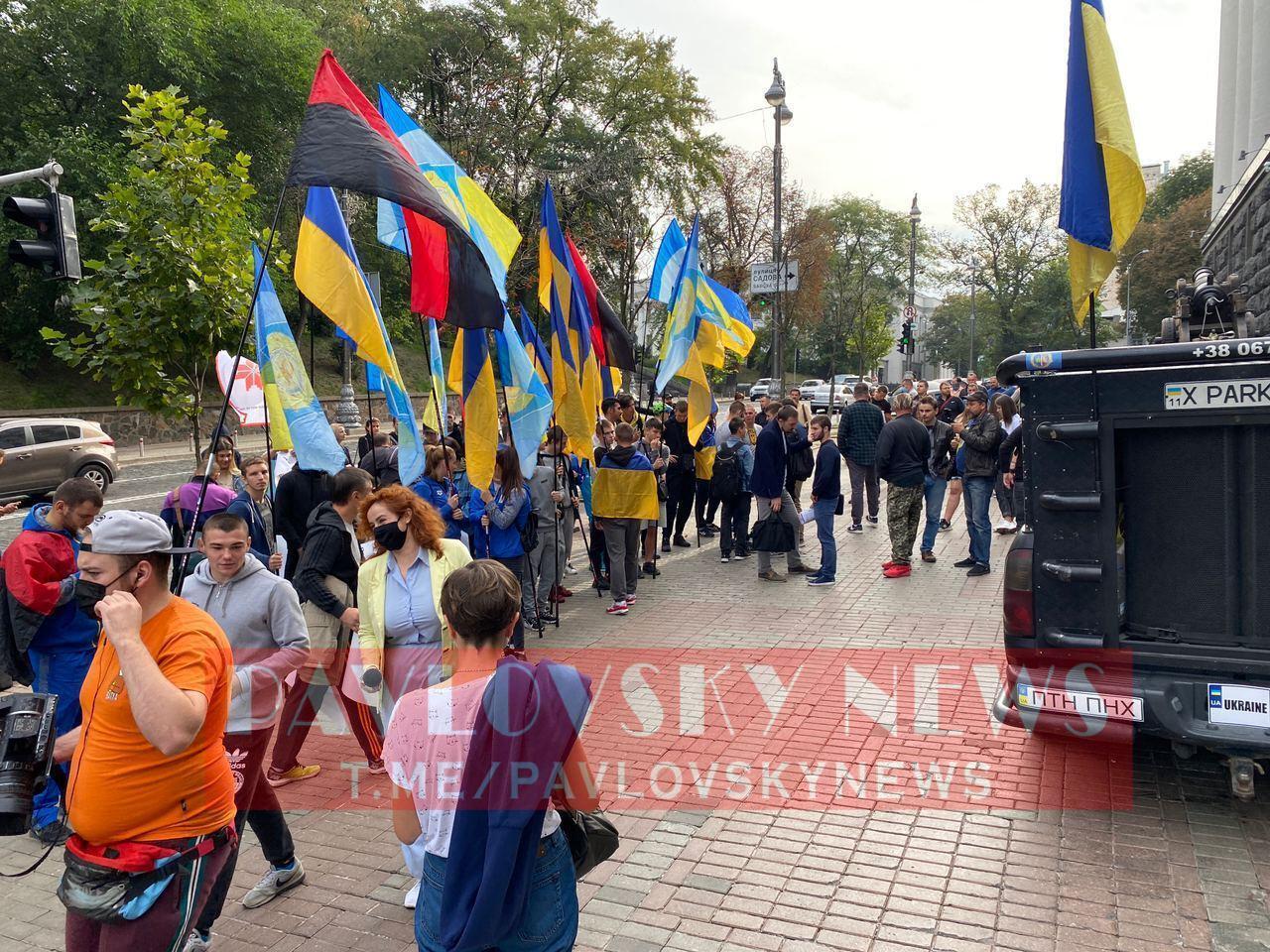Митинг студентов и учеников Олимпийского колледжа