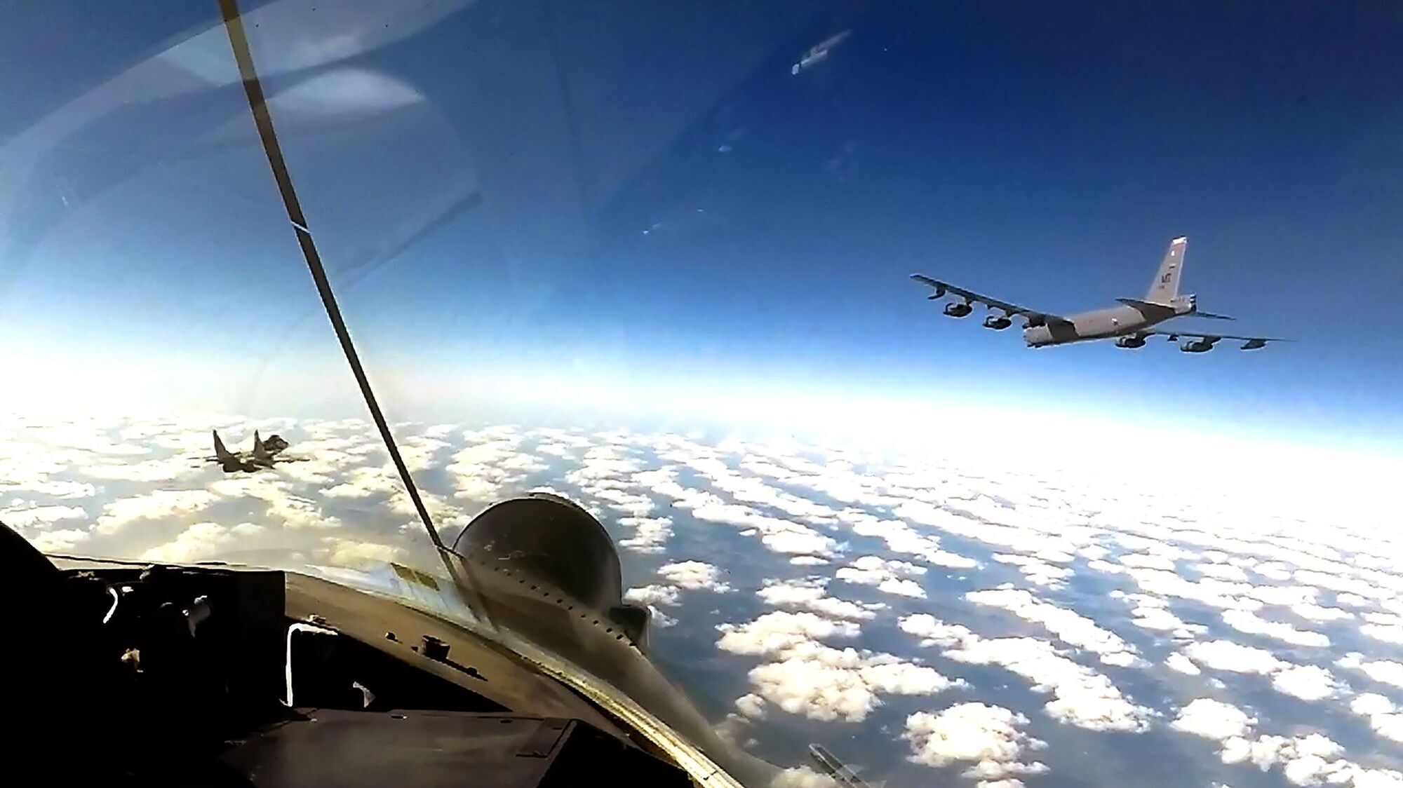 Американские В-52 в воздушном пространстве Украины – 14 сентября 2020 г.