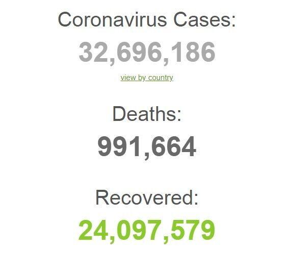 Коронавирусом заразились более 32 млн.