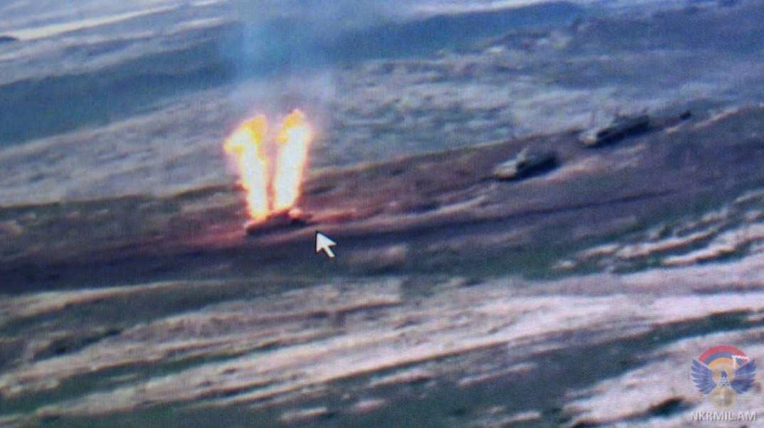 Первая уничтоженная БМП армии Азербайджана