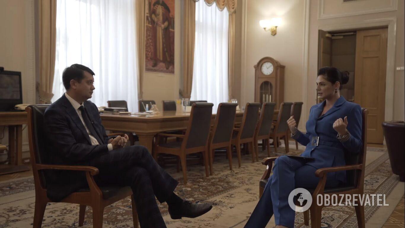 Дмитро Разумков, Христина Бондаренко, кадр із програми.
