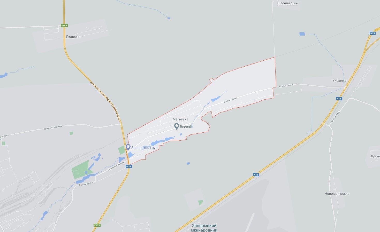 ДТП произошло неподалеку села Матвеевка.