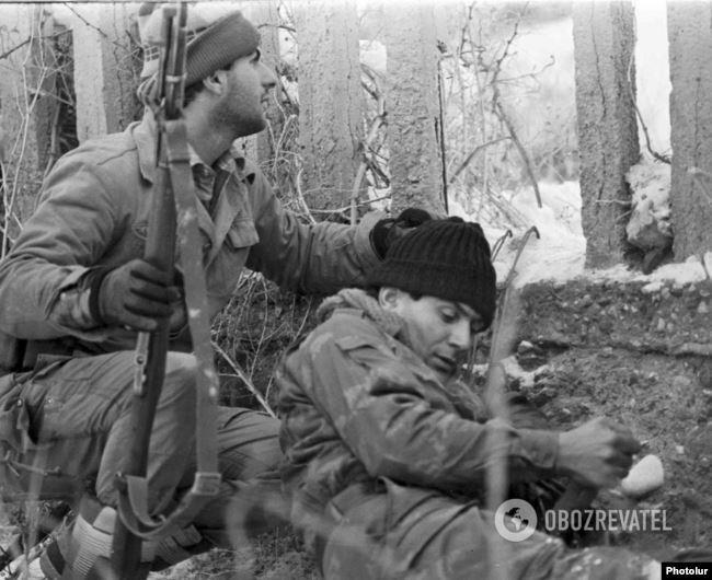 Вірменські солдати під час бойової операції, 1989 рік