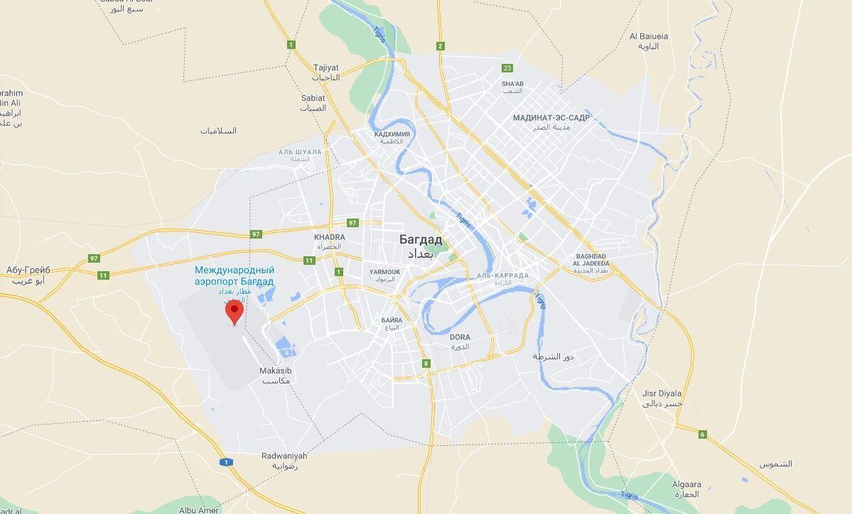 Ракета была направлена на международный аэропорт Багдада.