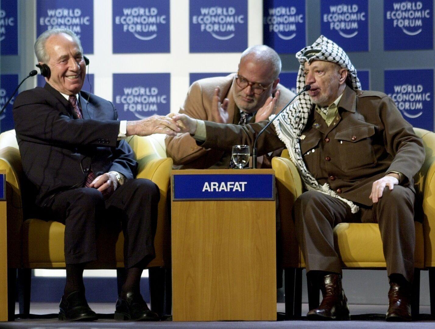 Шимон Перес і Ясір Арафат