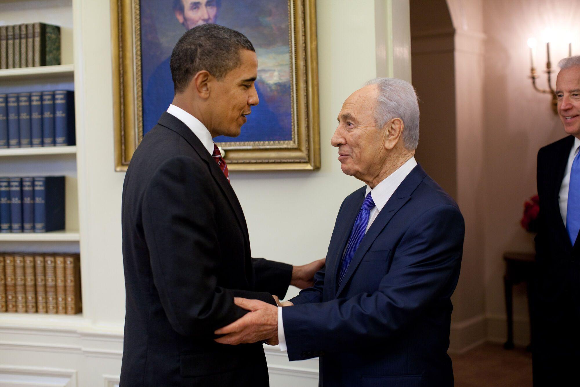 Шимон Перес і Барак Обама