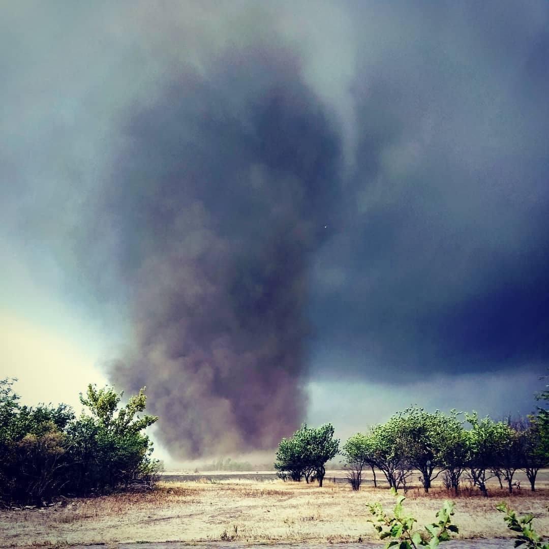 Торнадо в Херсонской области.