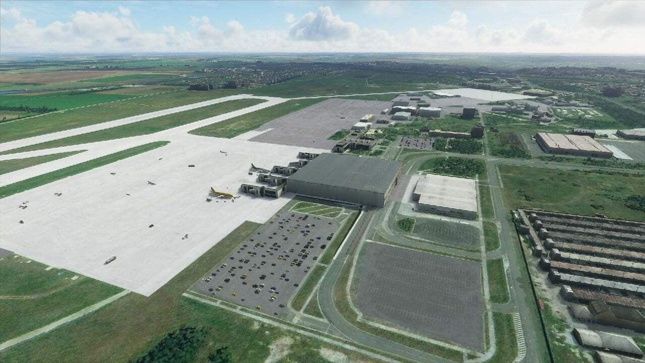 Донецкий аэропорт в игре Microsoft Flight Simulator 2020.