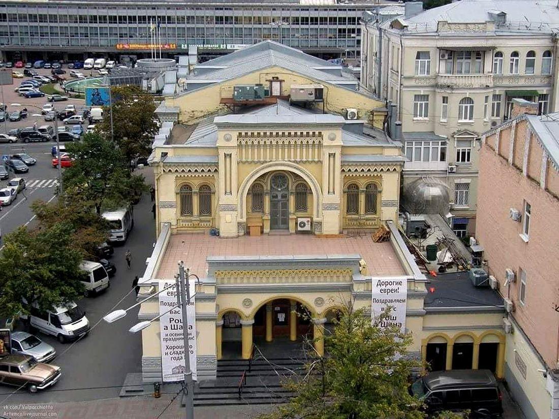 Похищение бизнесмена произошло в центре Киева возле синагоги имени Лазаря Бродского.