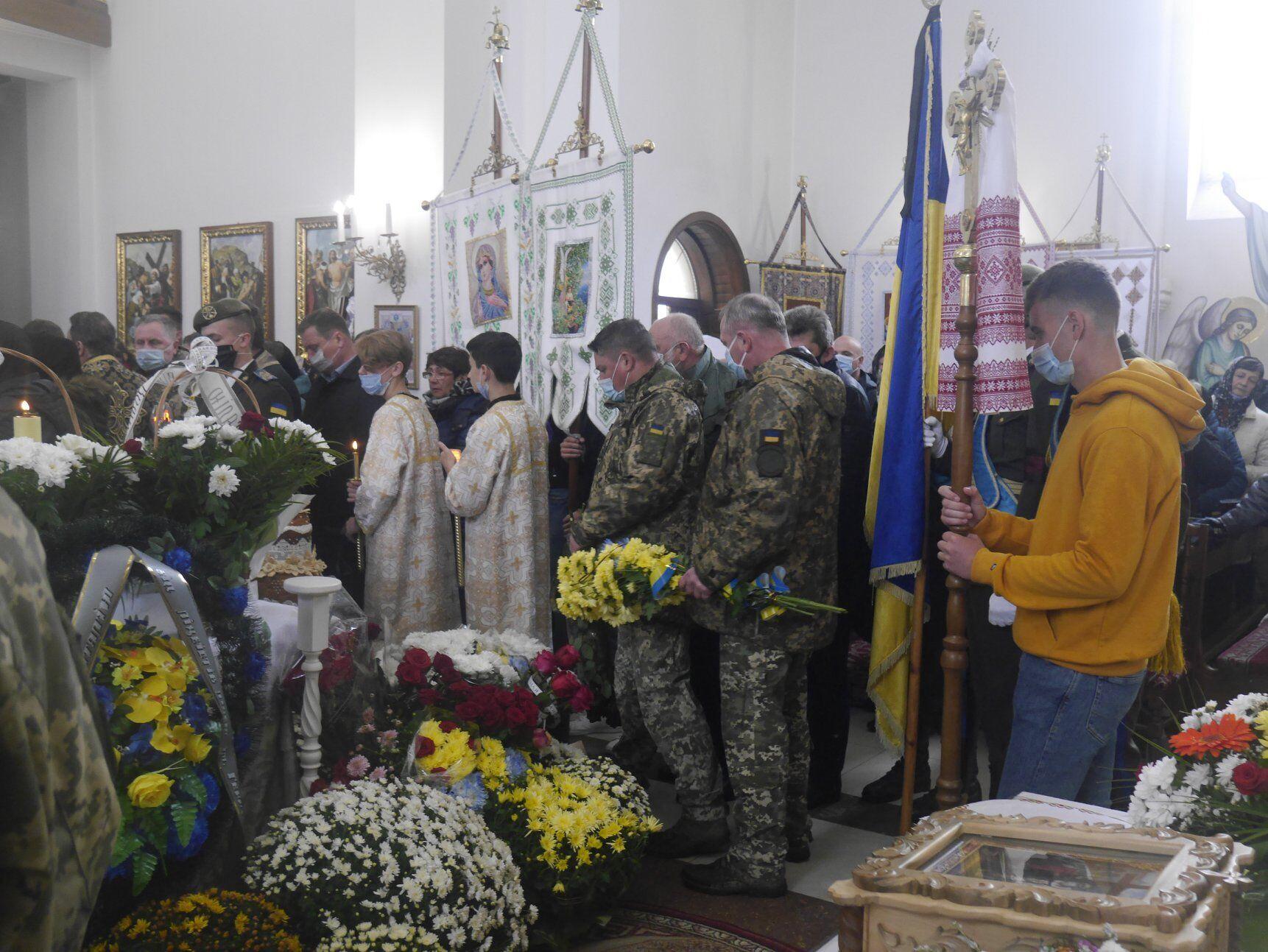 На Львівщині попрощалися з Віталієм Вільховим.