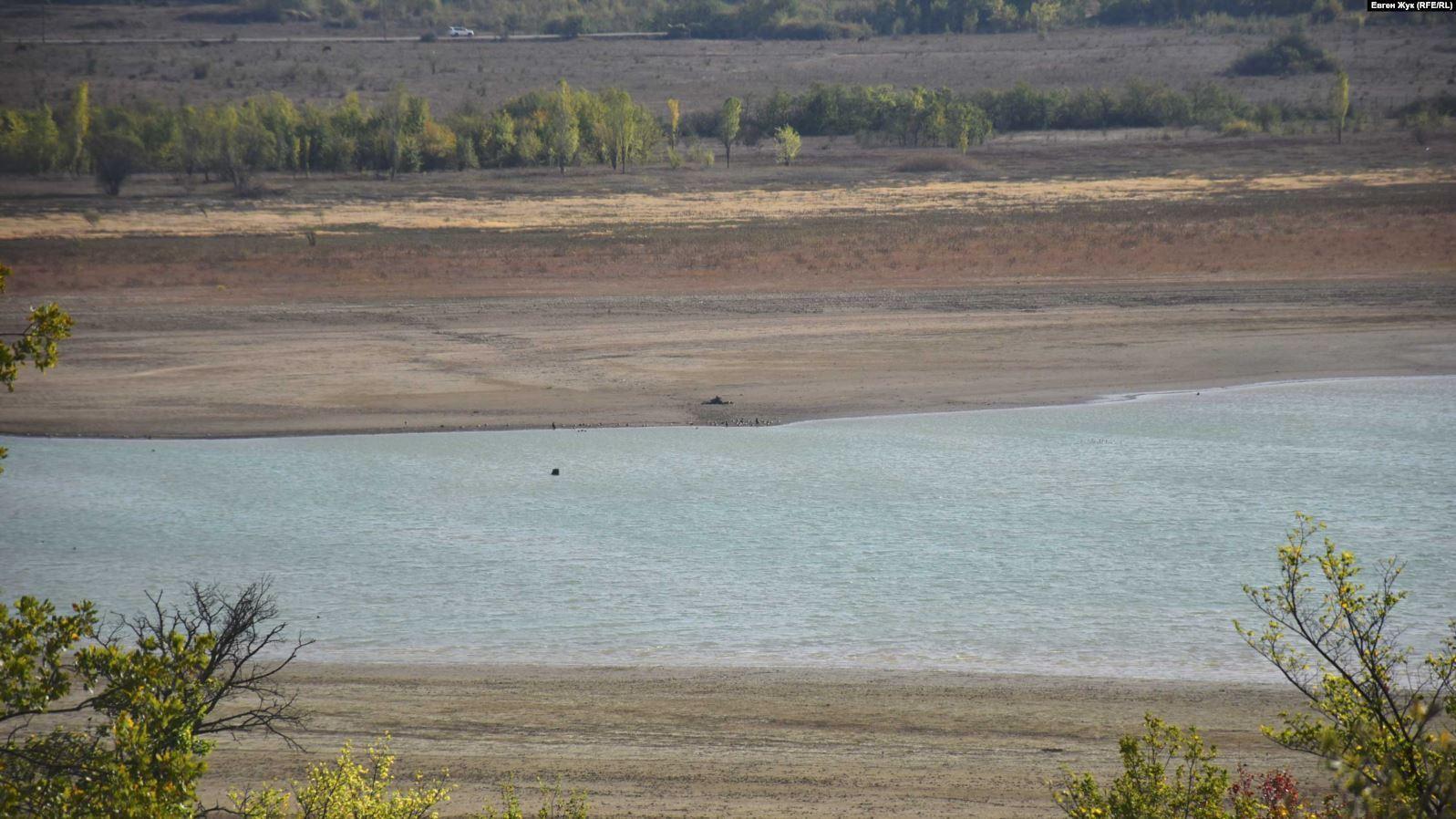Чернореченское водохранилище заметно уменьшилось.