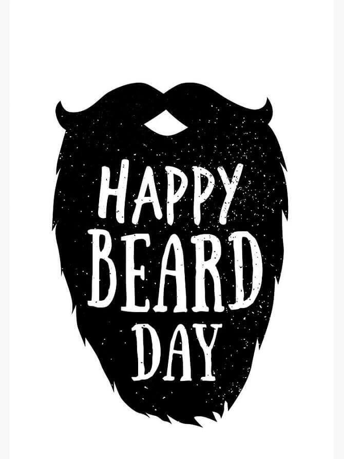Открытка с Днем бороды