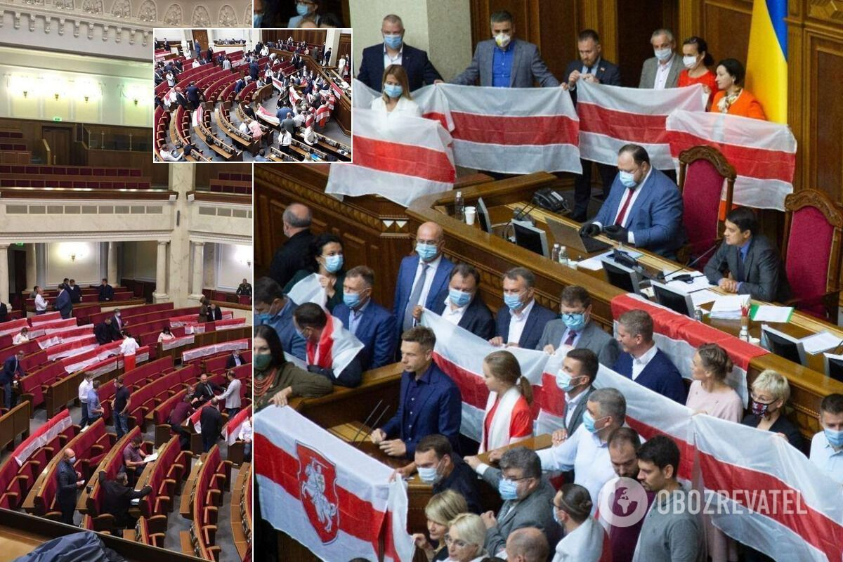 Нардепи блокували трибуну парламенту