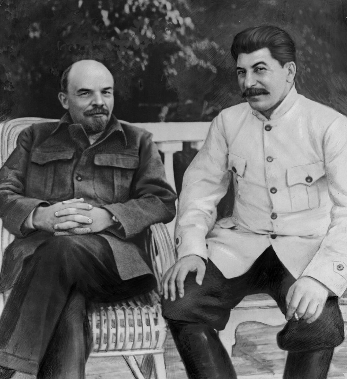 В советском учебнике истории Сталин преподносился лидером Октябрьской революции, о роли Ленина умалчивалось