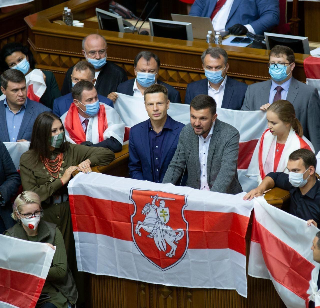 Олексій Гончаренко приєднався до підтримки народу Білорусі.