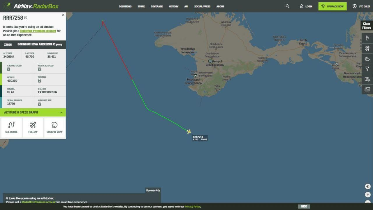 Самолеты США вылетели с авиабазы Фэрфорд в графстве Глостершир (Великобритания).
