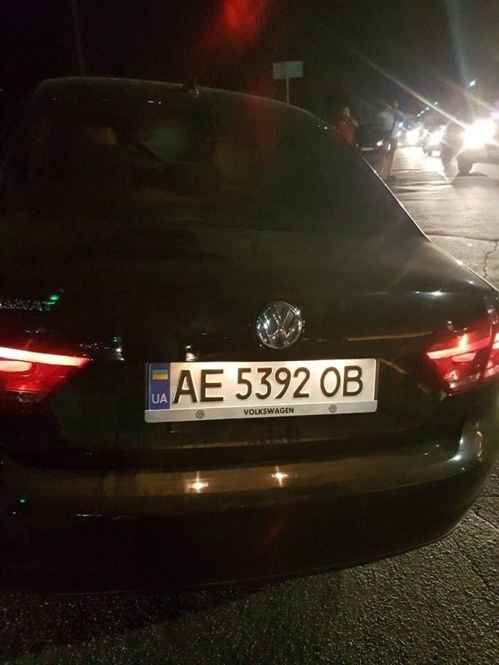 Volkswagen Passat, на котором сбили ребенка