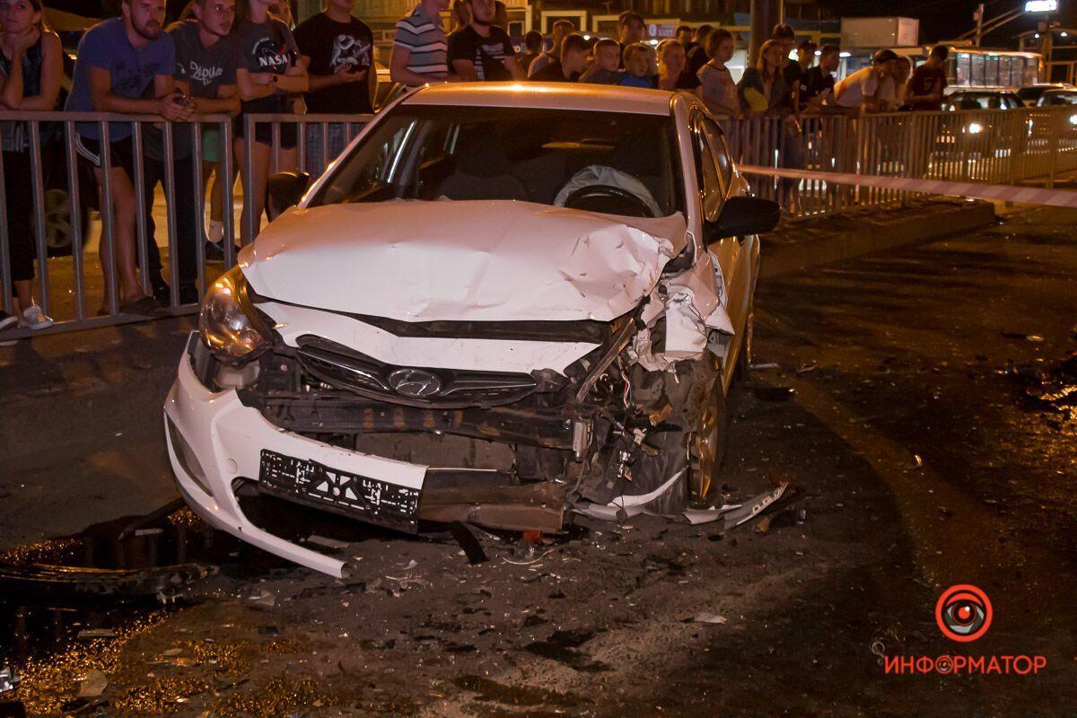 Hyundai также получил повреждения, водитель в больнице.