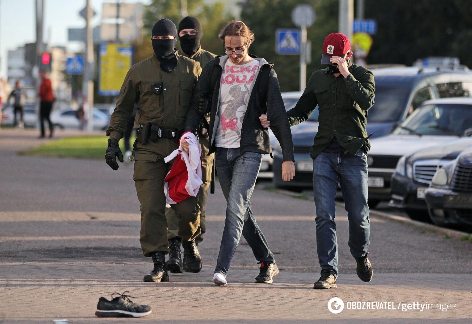 Задержание митингующих в Беларуси