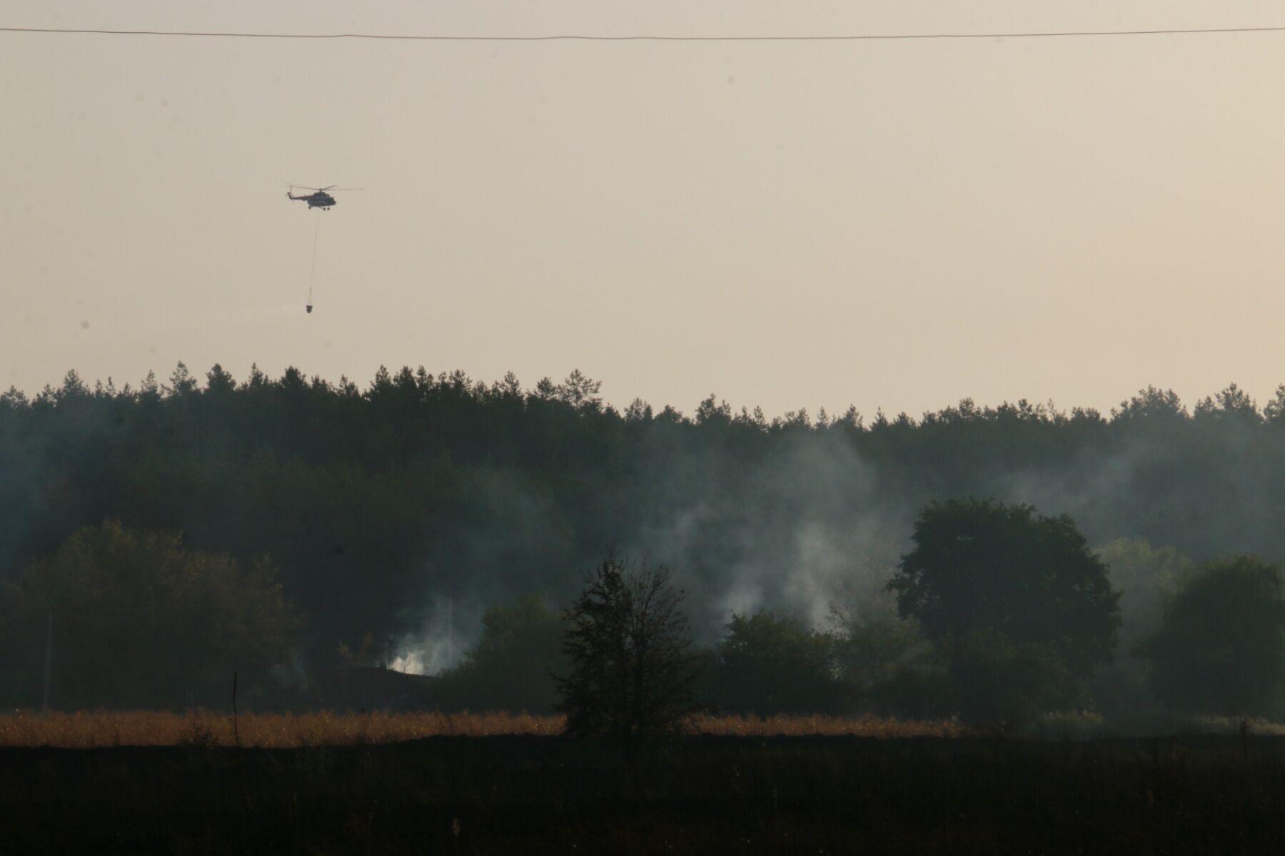 Крупный пожар в Харьковской области вспыхнул еще 2 сентября.