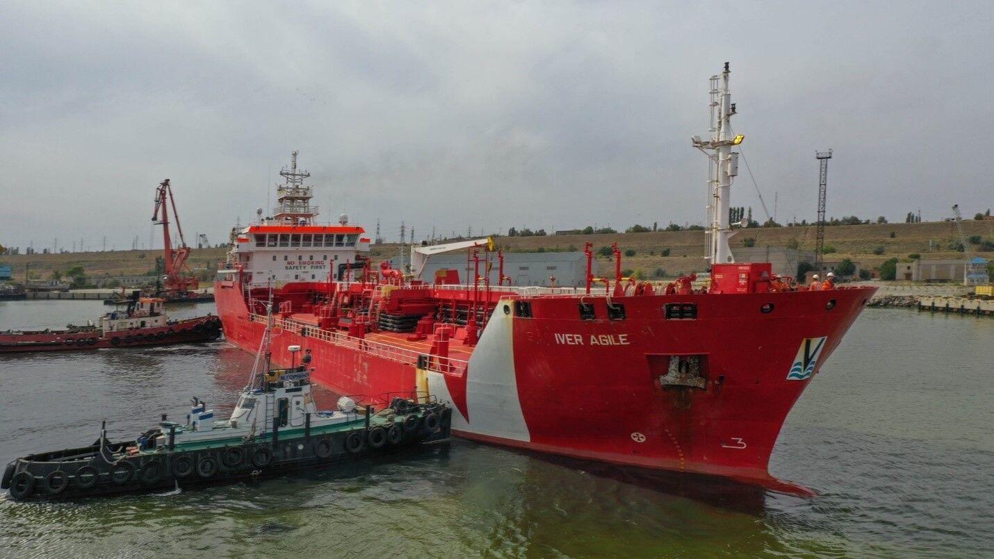 В Украину прибыл танкер из Италии