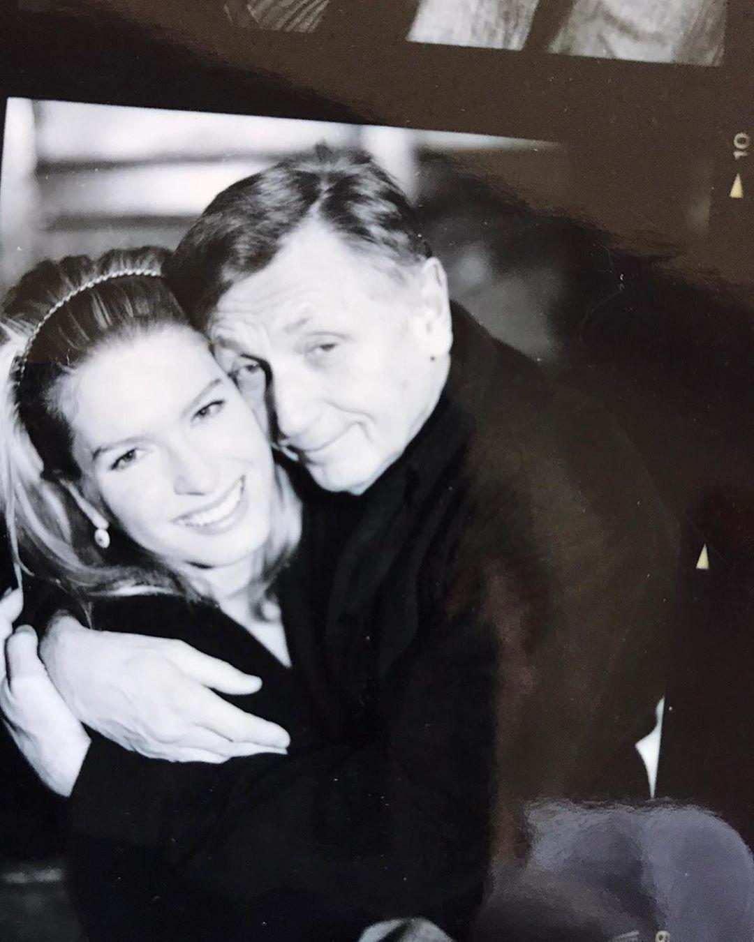 Иржи Менцель с женой Ольгой, 2004 год.