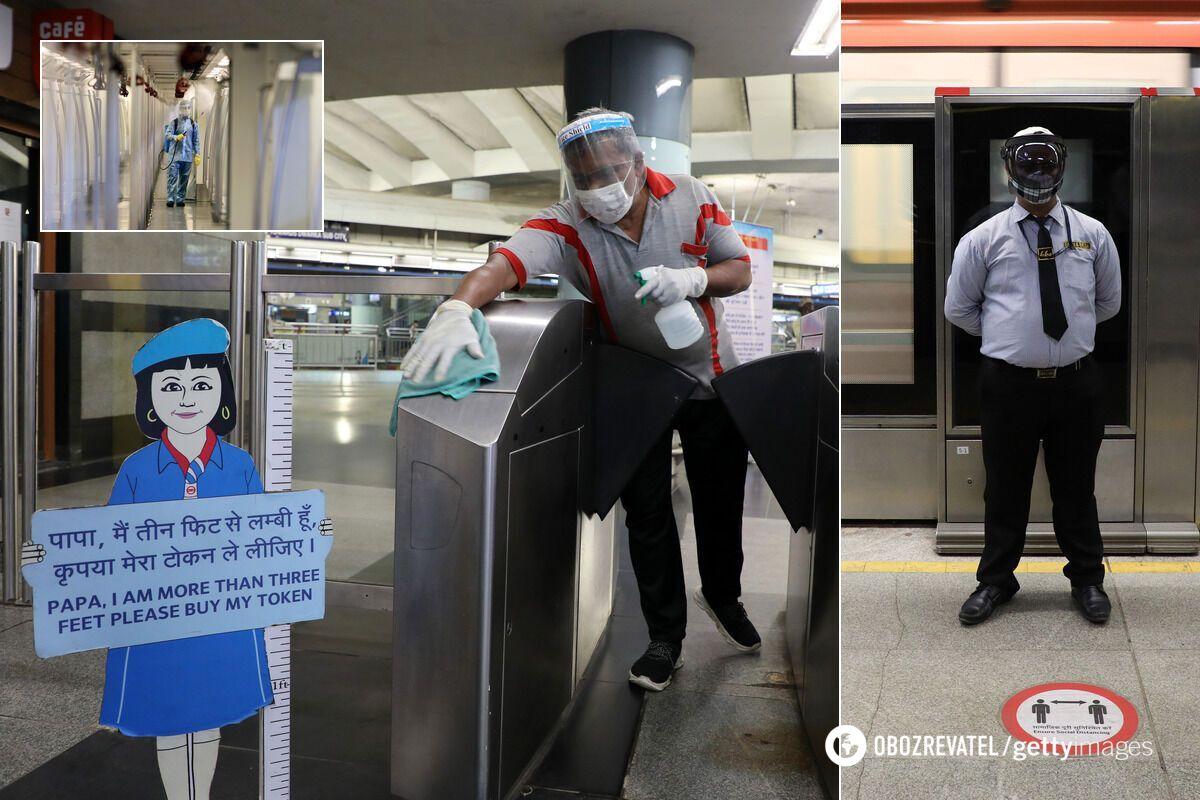 В Индии после 5 месяцев простоя открылось метро