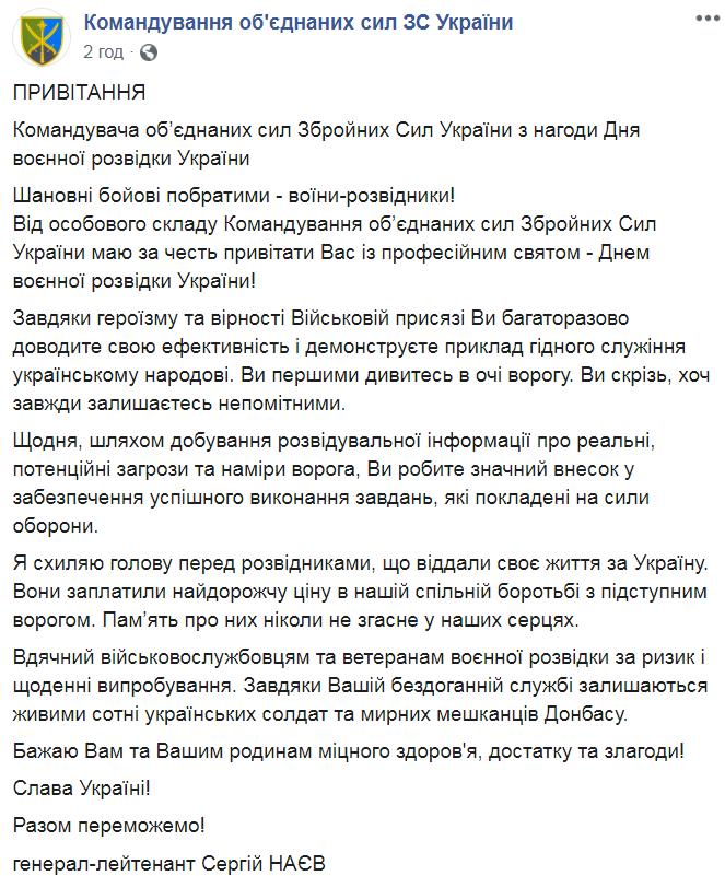 День воєнної розвідки України