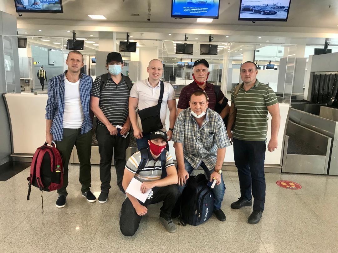Моряки, які повернулися в Україну.