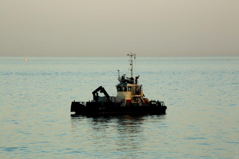 Навколо танкера кружляли буксири і човни.