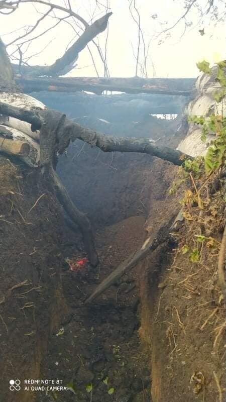 Огонь уничтожил 6 позиций ВСУ на Донбассе.