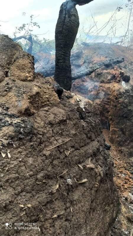 У военных ВСУ сгорели блиндажи, форма и оборудование.