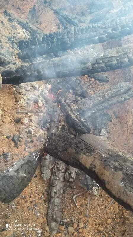 Огонь уничтожил перекрытие блиндажей ВСУ.