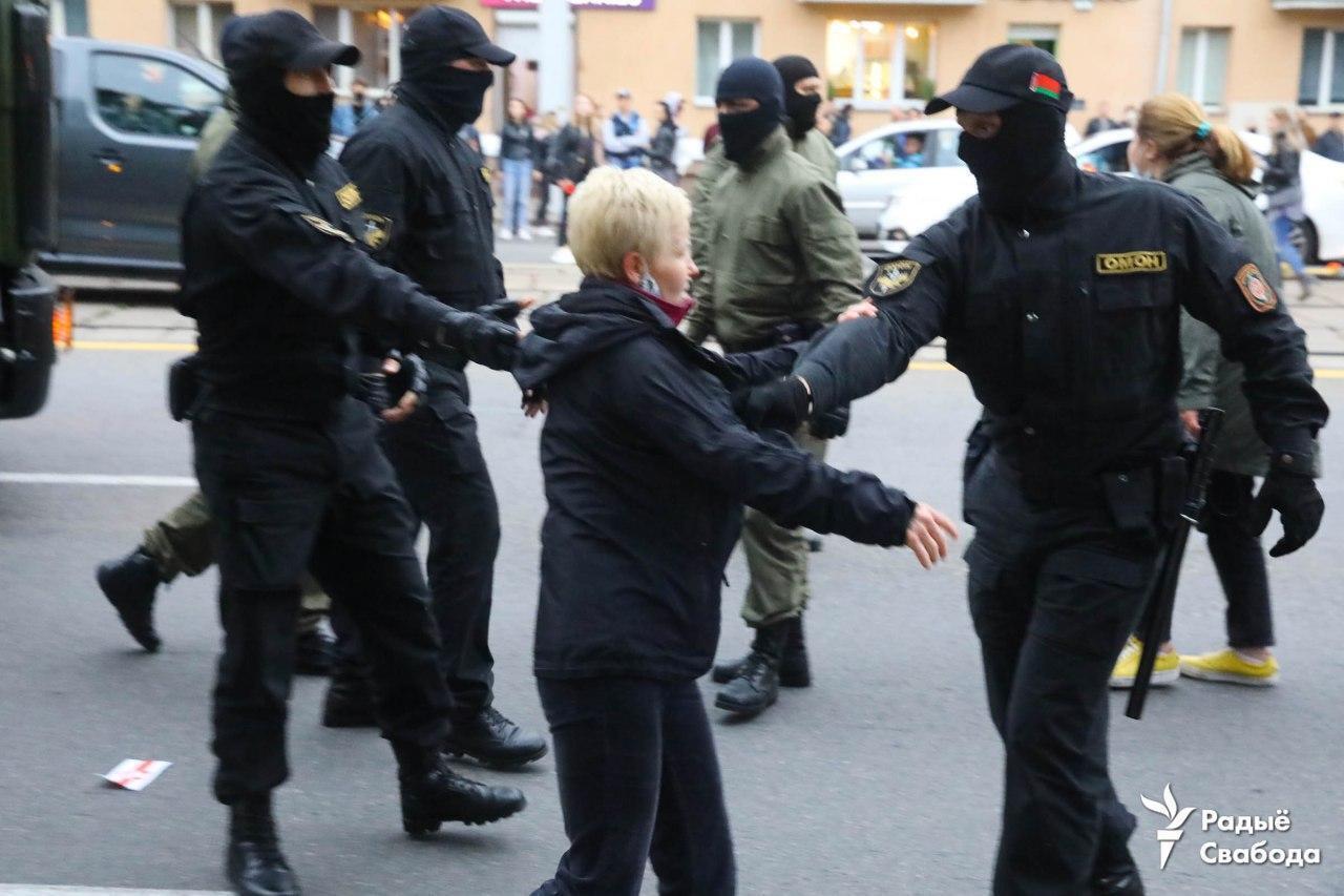 Задержания в Минске 8 сентября.