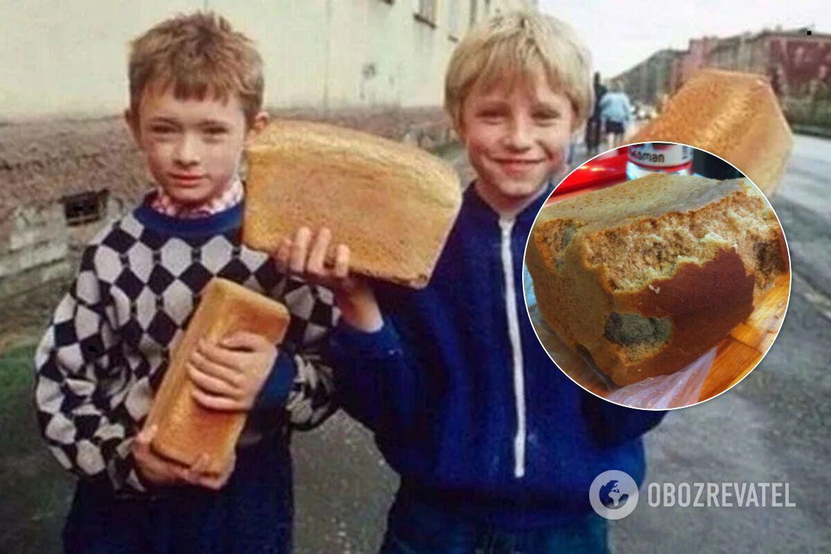 Советские дети откусывали корку хлеба