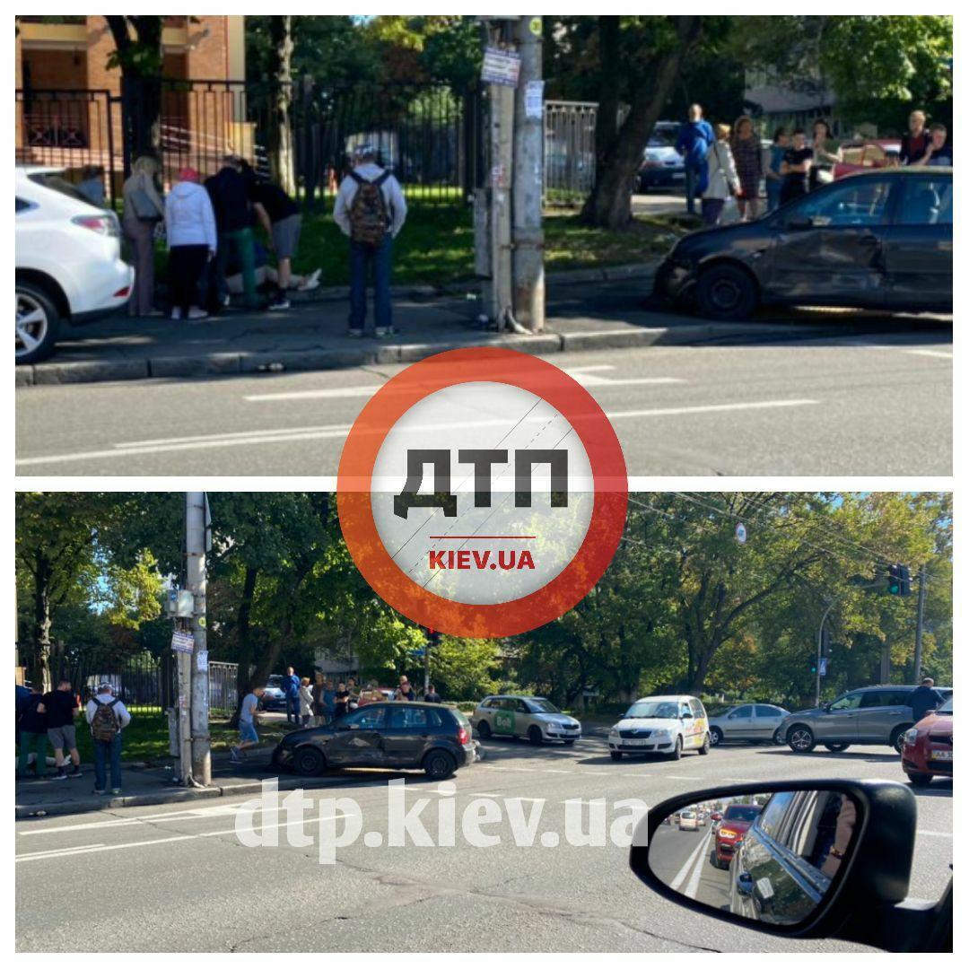 У Києві трапилася ДТП.