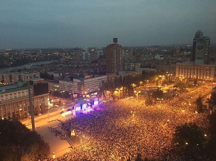 На концерт Лепса прийшло близько 70 000 осіб. Telegram-канал Inside Donetsk
