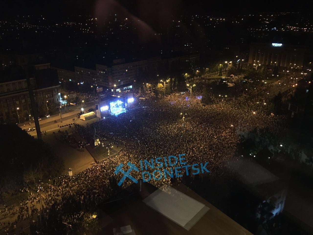 Під час свого концерту в Донецьку Лепс виконав гімн РФ. Telegram-канал Inside Donetsk