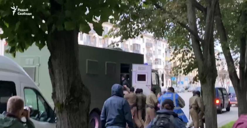 Задержания в столице Беларуси.