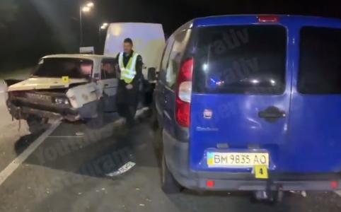 Аварія на Гостомельській трасі.