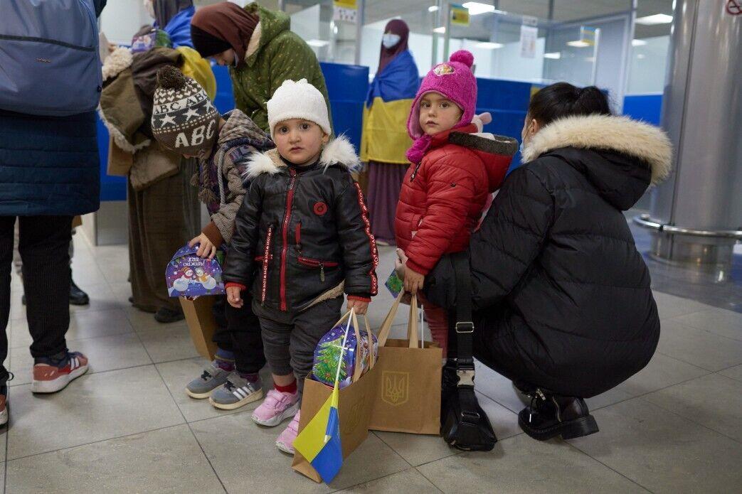 Первые минуты пребывания в Украине