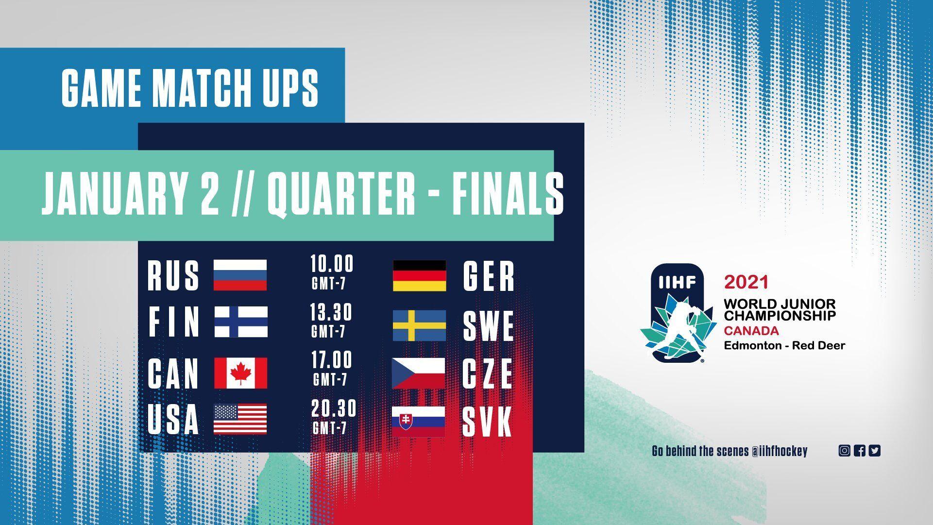 Расписание четвертьфинальных матчей