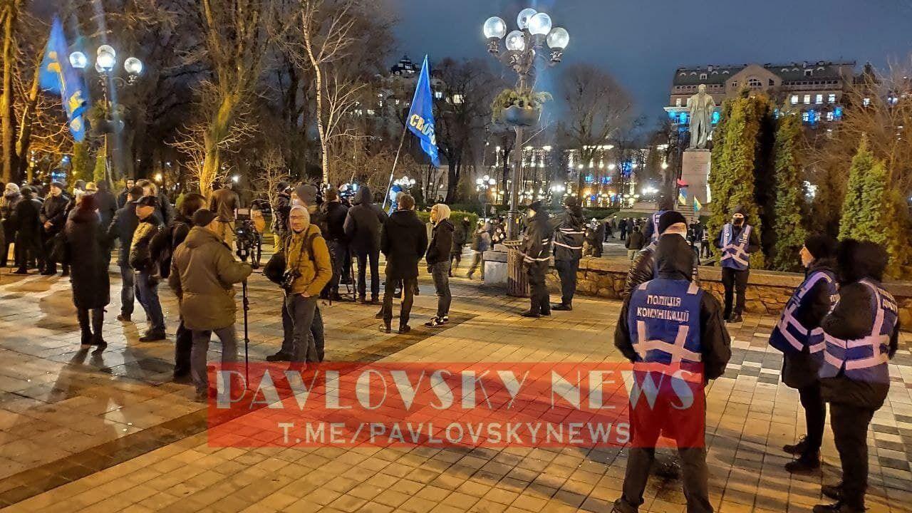 Учасники і поліція чекають початку ходи