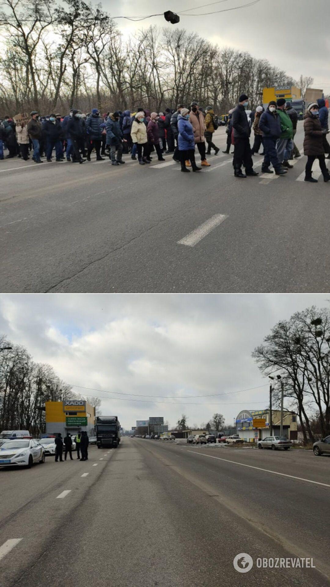 Под Харьковом перекрыли трассу