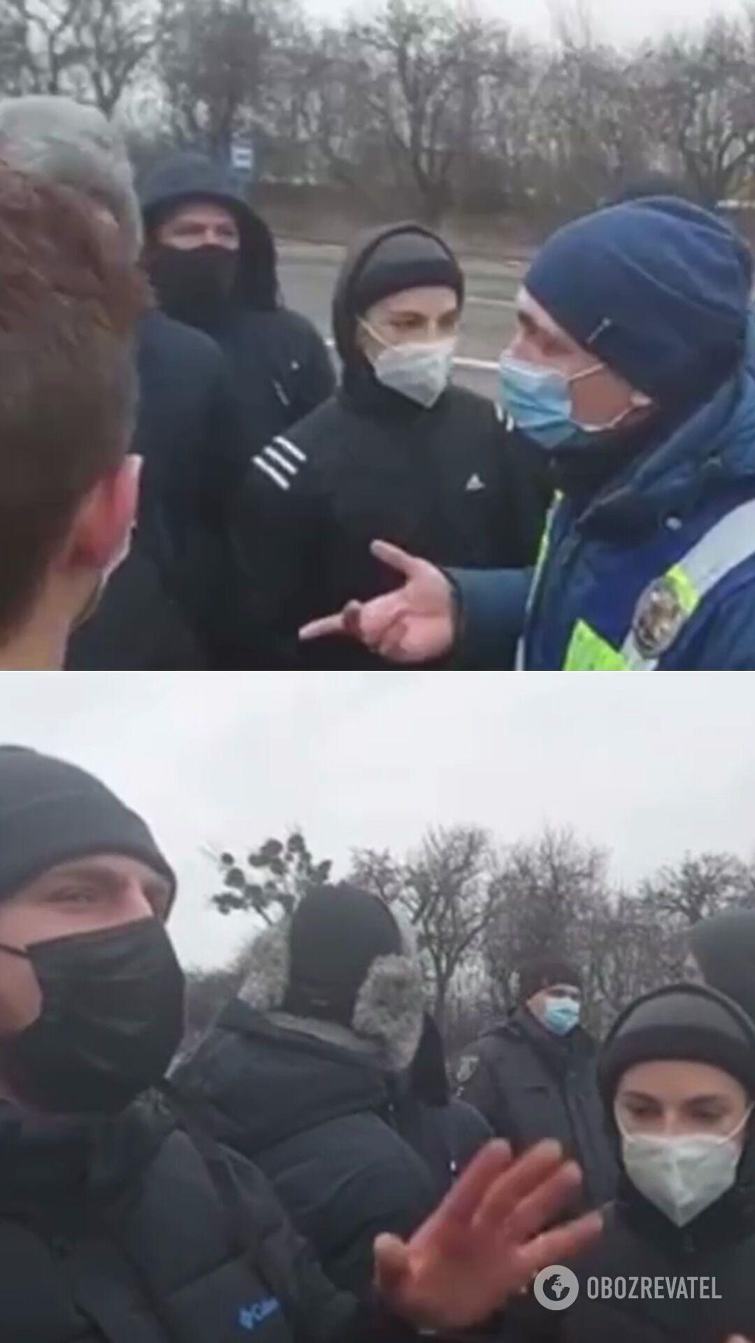 Протест в Люботине