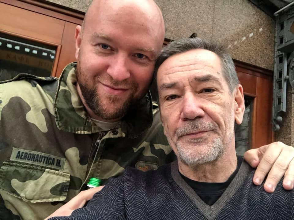 Гольдман и актер Алексей Горбунов