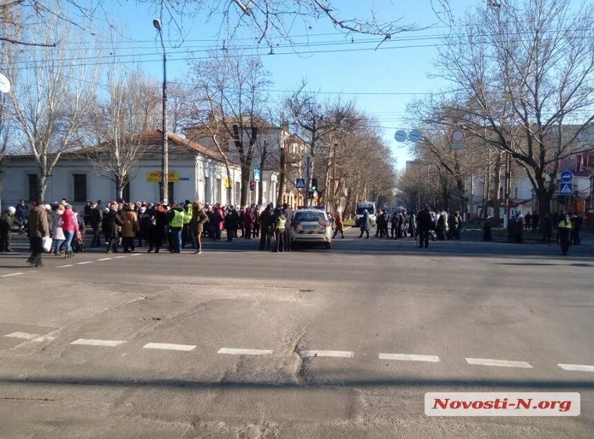 Полицейским удалось разогнать митингующих