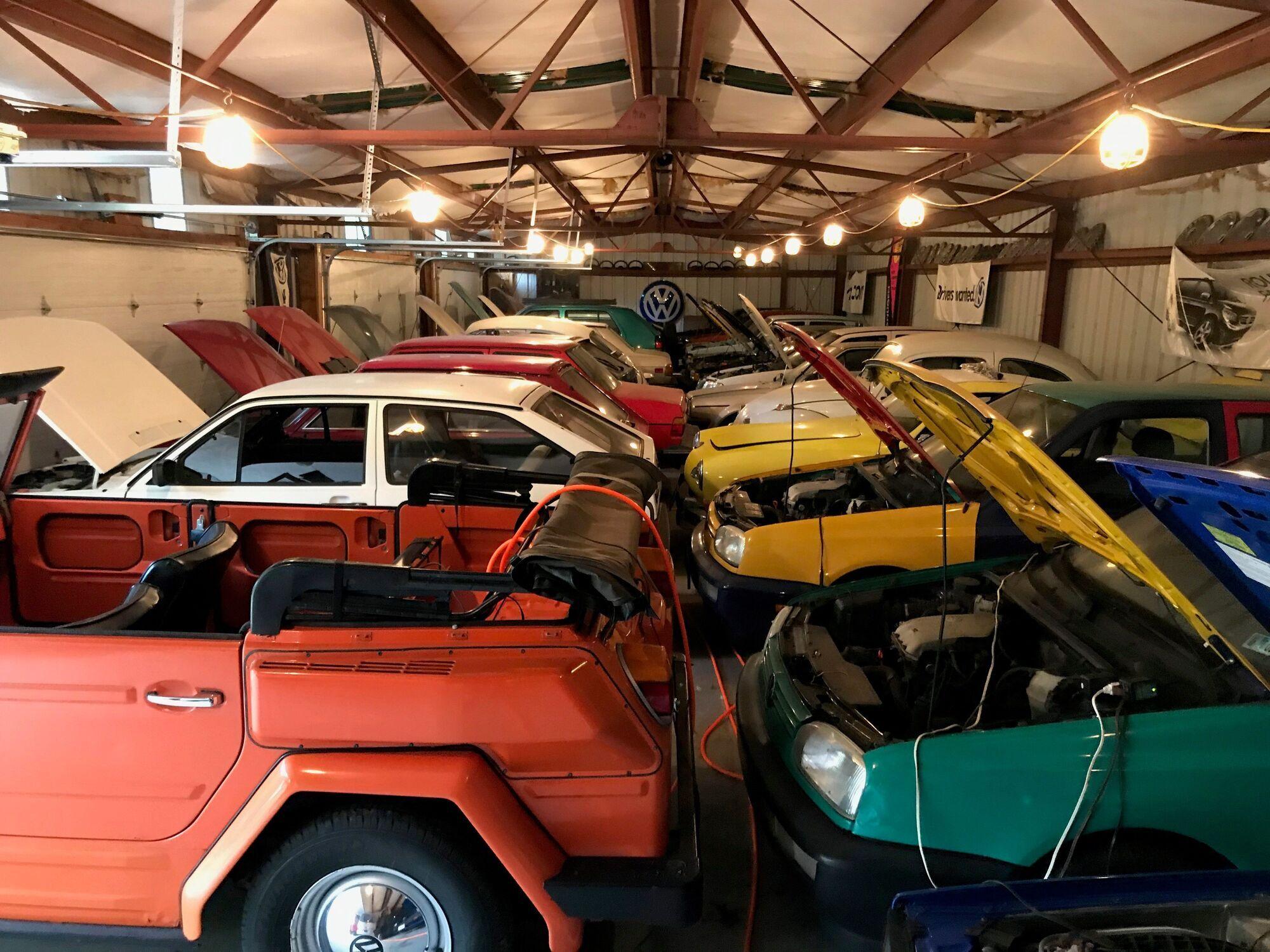 В коллекции Росса Капплза более 70 автомобилей марки Volkswagen