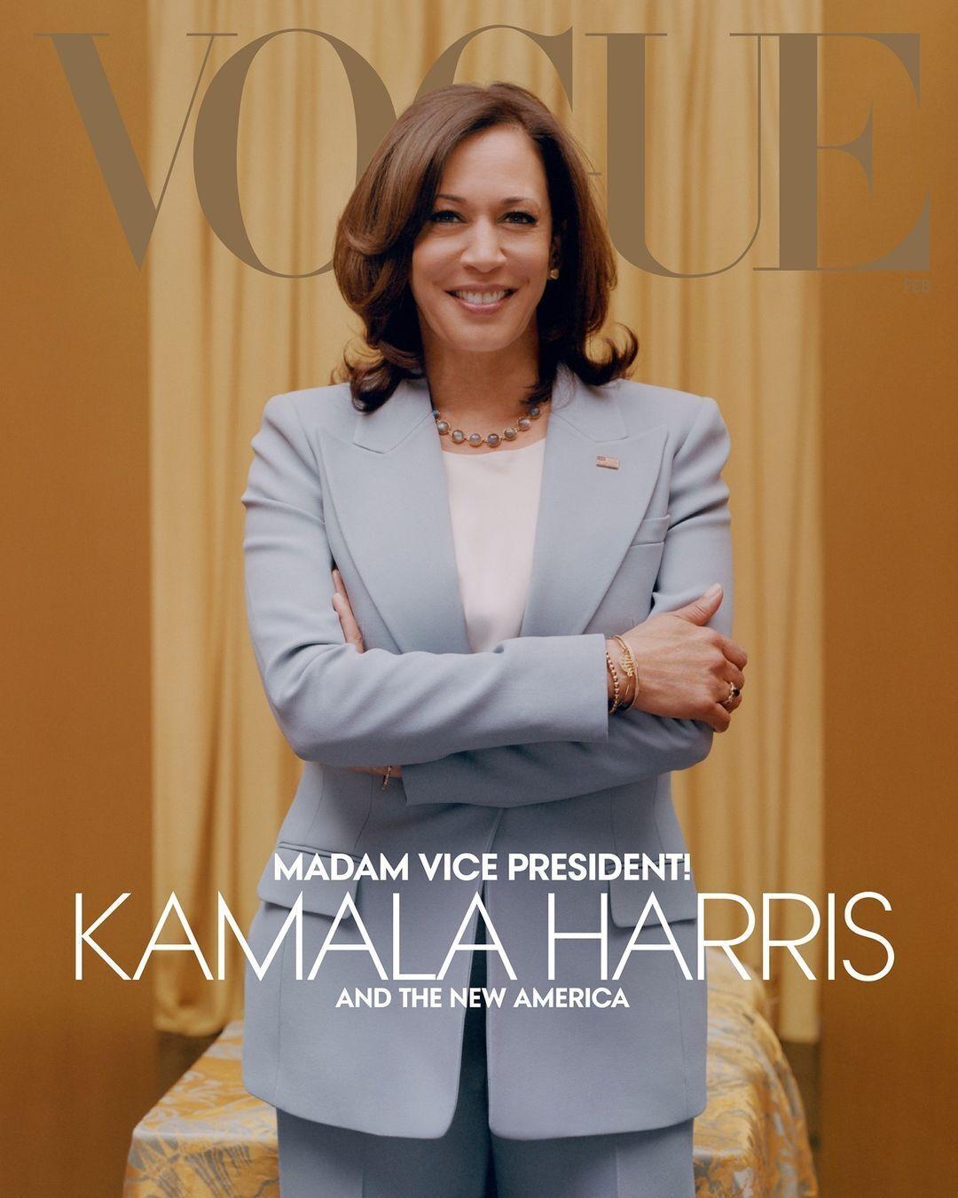 Камала Харріс прикрасила обкладинку нового номера журналу Vogue